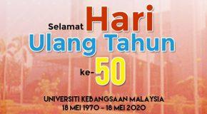 SELAMAT HARI ULANG TAHUN UKM KE-50