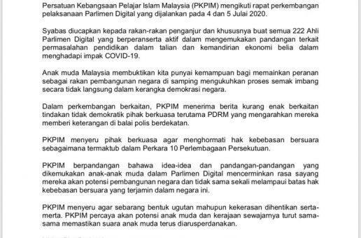 KENYATAAN MEDIA PKPIM: GUGATAN TERHADAP PARLIMEN DIGITAL WAJAR DISANGGAH